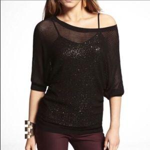Express Mesh Sweater NWT